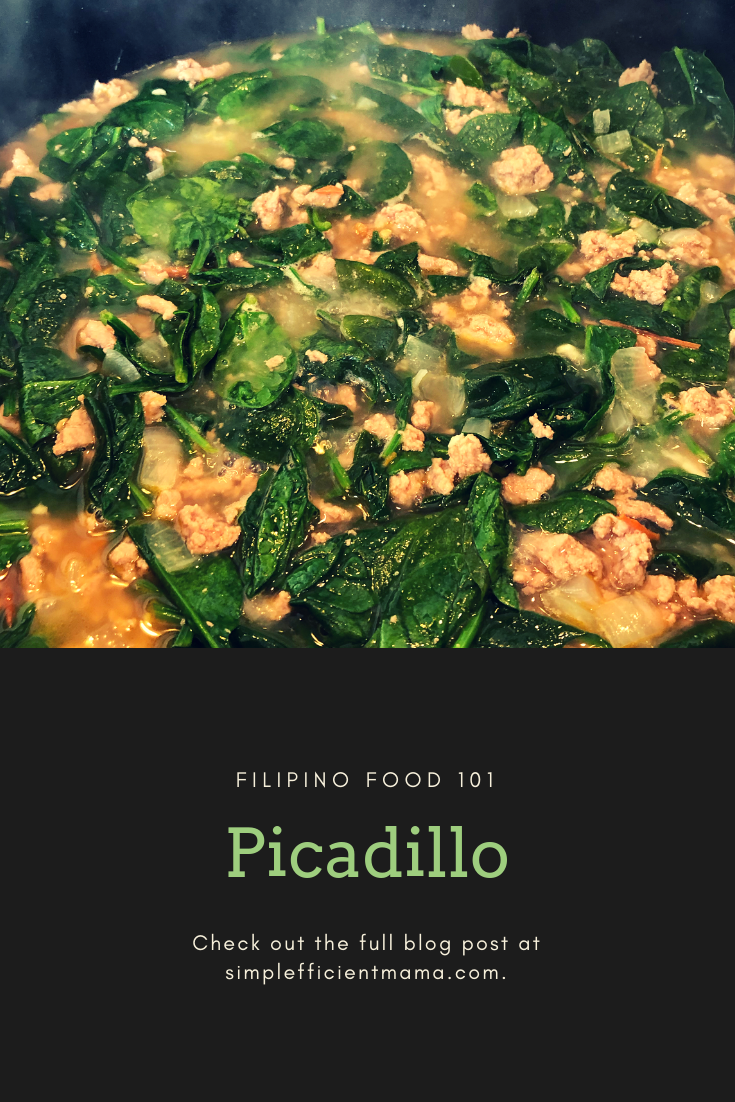 Filipino Food 101: Picadillo – Inay's Recipe