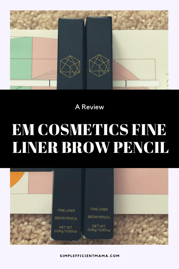 EM Cosmetics Fine Liner Brow Pencil Review