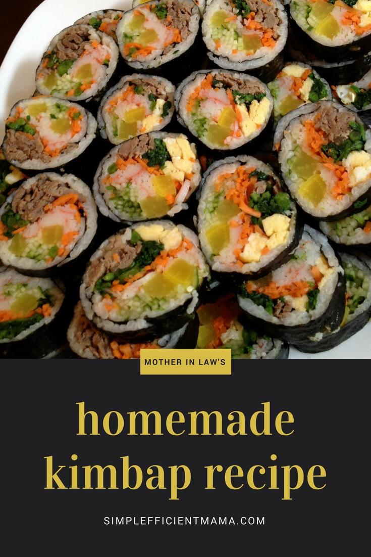 Korean Food 101:Kimbap